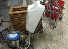 للبيع معدات تنظيف شركات شقق مكاتب  تصلح لمشروع شركة تنظيف صغيرة