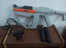 بلايستيسن Move و مسدس وكمرة لي ps3 جديد وانضيف ومعه خيط شحن