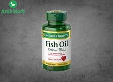 زيت السمك بدون رائحة لتقوية صحة القلب ولخفض ضغط الدم ولتقليل نسبة الدهون الثلاثية