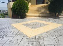 باطون ملون ومطبع  Printed and colored concrete