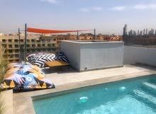 شقة وسط جليز مراكش مسبح خاص