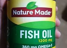 زيت سمك Fish oil nature made / عرض خاص 200 حبة