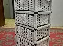 شانون راتان متعدد الاستخدامات لتخزين الأغراض 4 ادوار