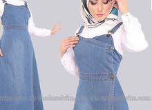 فستان جينز تركي ماركة