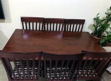 dining table with six chairs used tree month only