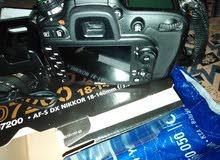 كاميره نيكون D7200 بحاله جيده استعمال شهر                  الفروانيه
