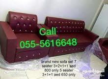 7 مقاعد أريكة 3 + 2 +1 +1 السعر فقط 500