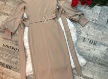 فستان بينصل خامه فول ليكرئ