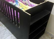 سرير اطفال متين بالفرشه و المرتبه