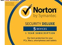 مكافح فيروسات Norton 5 اجهزة اشتراك لمدة سنة