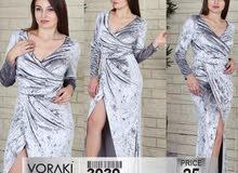 فستان مخمل صناعه تركية