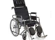كرسي متحرك مدولب جديدة  تستخدم في المنزل والمستشفى يتحول (الى سرير) - قابل للنقا