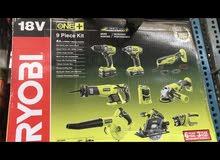 Ryobi 18v 9piece Kit