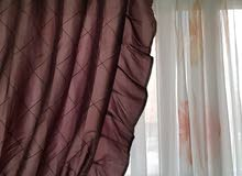 Fabric Window curtains with different design very clean