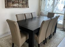 dining table for 8 with a cabinet table in perfect condition for sale