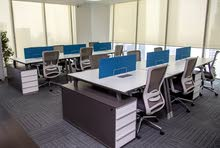 Office spaces, executive offices, shared or dedicated desk