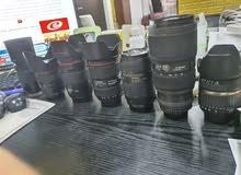 عدسات وكاميرات مستعملة
