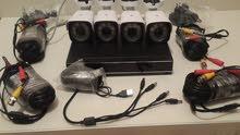 منظومة اربعة كاميرات 5MP Super HD (متبقي قطعتين)