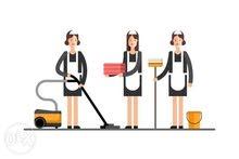 مطلوب عاملة نظافة منزلية للعمل لدى أسرة اجنبية