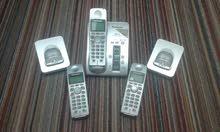 ثلاثة  هاتف Panasonic لاسلكي 5.8 Ghz