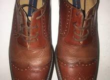 حذاء جلد لون بني...تنزيلات لليوم فقط