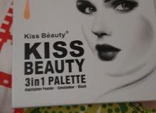 افضل انواع الميكب والاصلي kiss beauty 3 in 1 palette