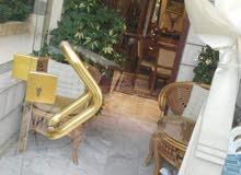 شقه للبيع آرضية مع حديقة وكراج مطبخ راكب في عرجان