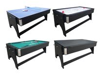 4 in 1 Multi-Game Tables Pool table, hockey table, tennis table and dining table