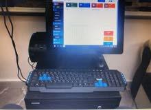 جهاز حاسب الي مع شاشة اللمس لاتمام عمليات البيع اليومي