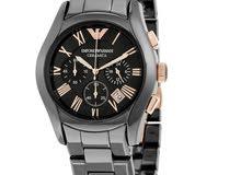 Emporio Armani Ceramica Black/Gold Dial Men's Watch AR1410