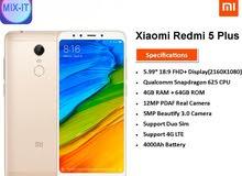 جهاز Mi Redmi 5 Plus جديد الاصلي فقط 750 شيكل
