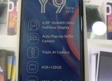 جهاز y9 prime 2019 جديد كفالة سيليفنيو الكفاله الرسميه فقط ب 180.00 دينار متوفر