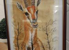 gazelle canvas watercolor