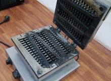 ماكينة وافل اطاليه نضيفة هلبه للبيع كاش 550