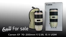 للبيع Canon EF 70-200mm f/2.8L IS II USM