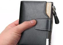 Genuine Leather Wallet  محفظة جلد طبيعي