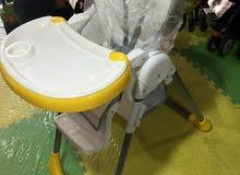 كرسي طعام اوروبي فخم جدا ماركه kindercraft العالميه عدة مستويات وضهر متحرك بسعر