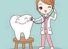 مطلوب طبيبة أسنان