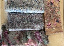 5 قطع ثنتين حرير والباقي قطن 5 fabrics pieces