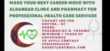 vacant jop for GP doctor, pharmacist and nurse