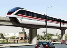 احسن فرصة ومستقبل مضمون بعد انشاء القطار الكهربائي السريع ارض للبيع