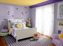 فني طلاء منازل داخلي وترميم رطوبة وديكورات و ورق حائط لي أي استفسار 0926774703