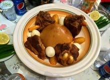 طباخة مغربية  للأكلات ليبية و مغربية كسكسي بزين و رشدة ورز و حجات حارة