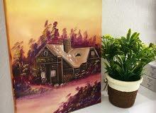 لوحات فنية الوان زيتية سعر الوحة 4ريال