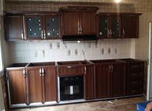 مطبخ المنيوم لون خشبي سعر متر 300دينار