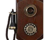 هاتف جداري خشبي قديييم