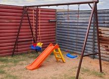 أرجوحة أطفال كاملة + سلحابة  - حدائق