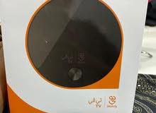 جهاز جوي تي في لم يستخدم وموديم الياف ومروحة تبريد لاب توب