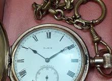 ساعة جيبية قديمة ماركة اليكن الامريكية