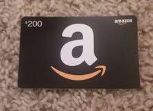مطلوب بطاقة amazon gift card 200$